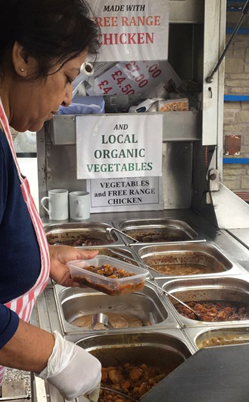 Kimi's Authentic Organic Curries at St. Briavels Produce Market